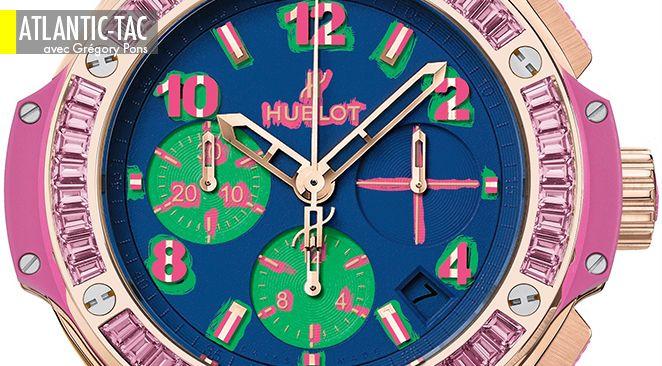 Si Andy Warhol était mobilisé comme designer horloger, il aurait adoré cette Hublot Pop Art aux couleurs de sa Marilyn