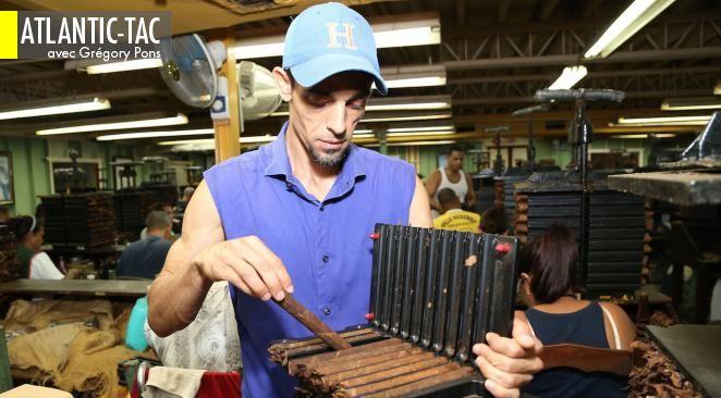 Un des « torcedores » de la manufacture Carlos Fuente, que certains considèrent comme le château-d'yquem des Caraïbes…