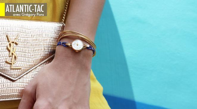 Des petits boîtiers féminins dans le goûts des années cinquante avec des bracelets dans le style des années trente…