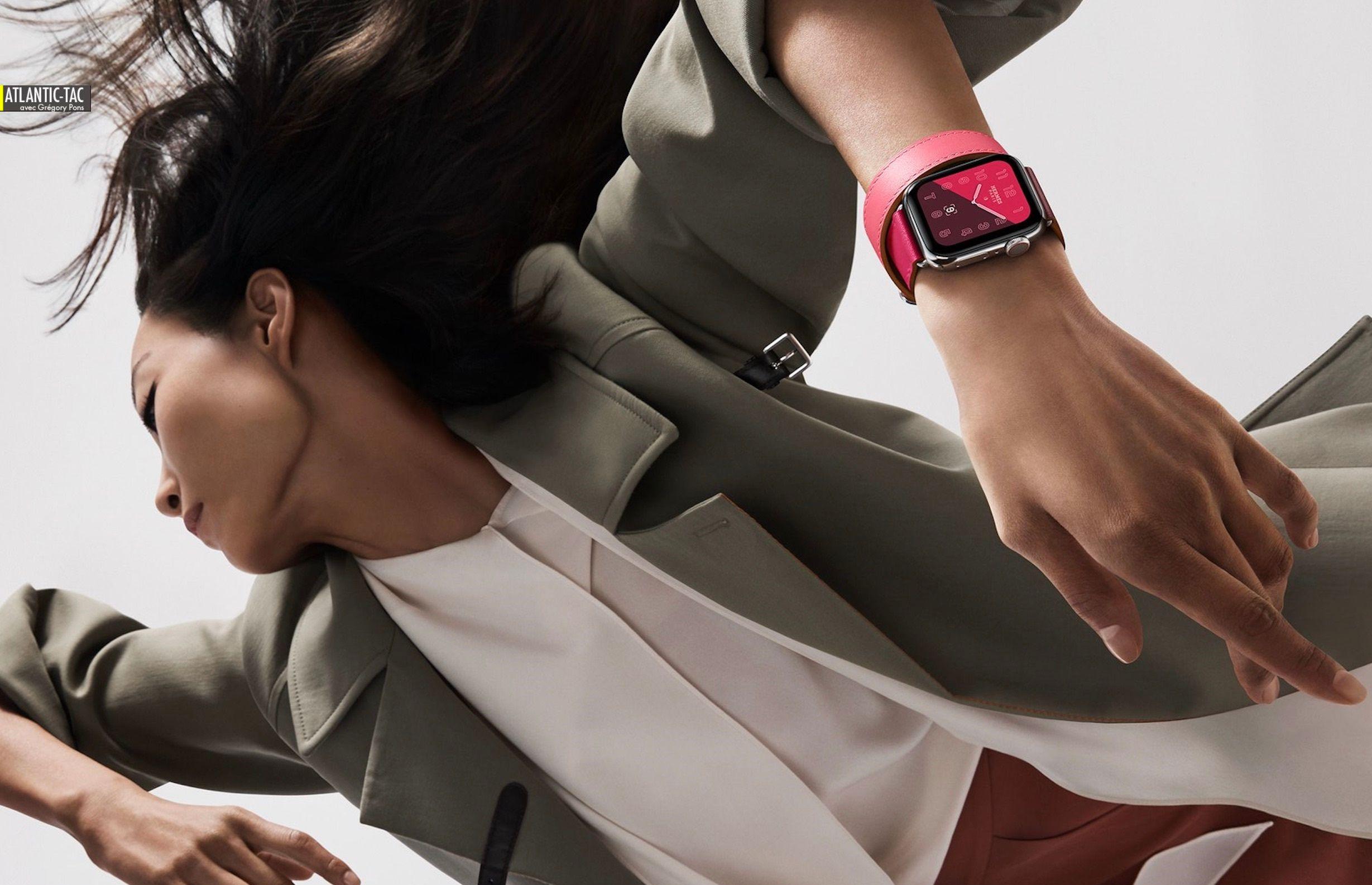 Moniteur cardiaque de poignet, l'Apple Watch 4 est aussi une bête de mode harnachée par Hermès...