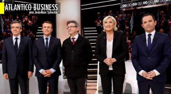 Présidentielle : Macron en tête au 1er tour dans un nouveau sondage, forte baisse pour Fillon