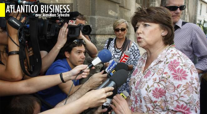 Martine Aubry était hier mardi à Paris.