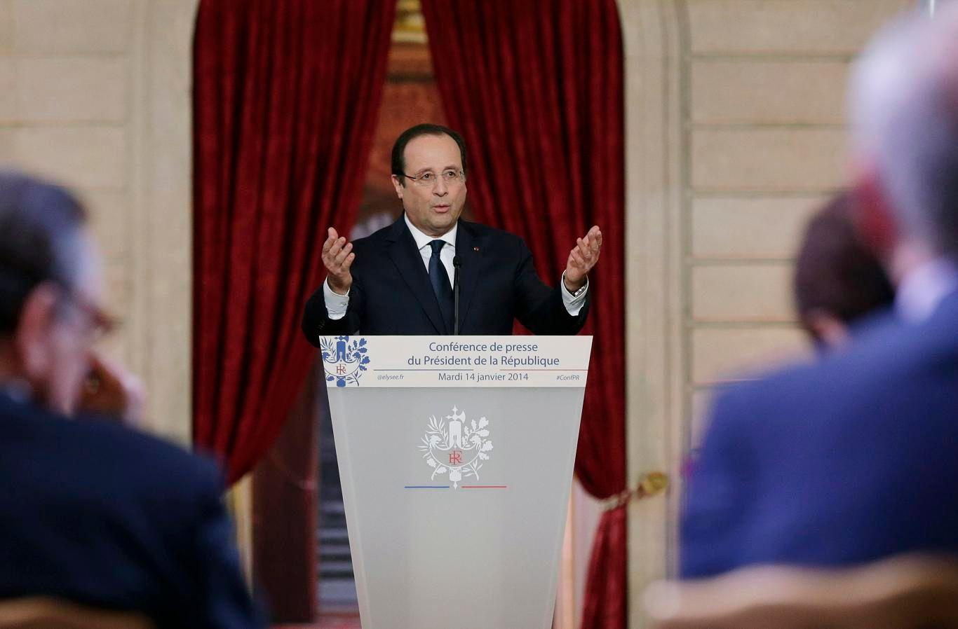 De nombreux journalistes présents lors de cette conférence de presse, la troisième de François Hollande
