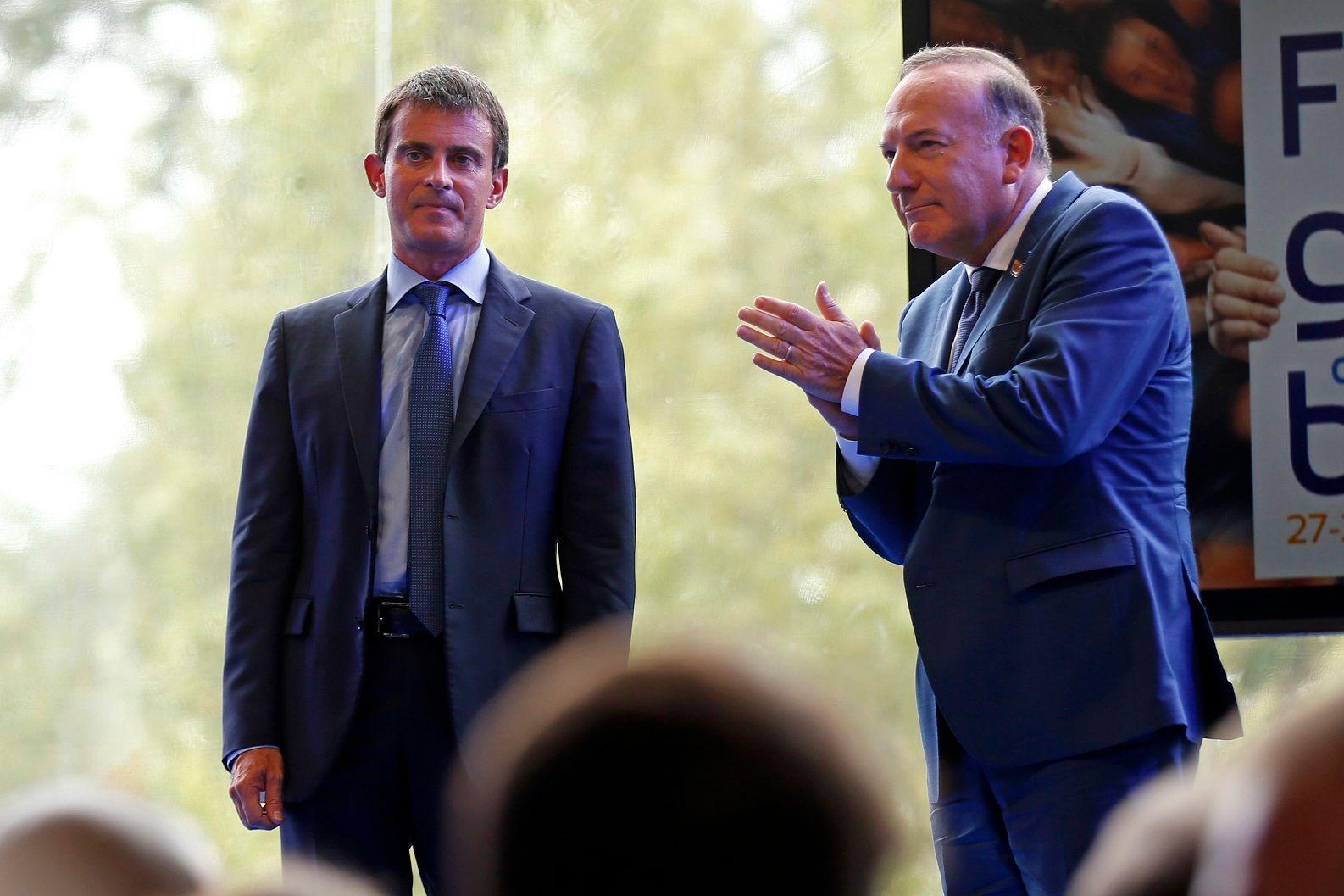 Manuel Valls et Pierre Gattaz.