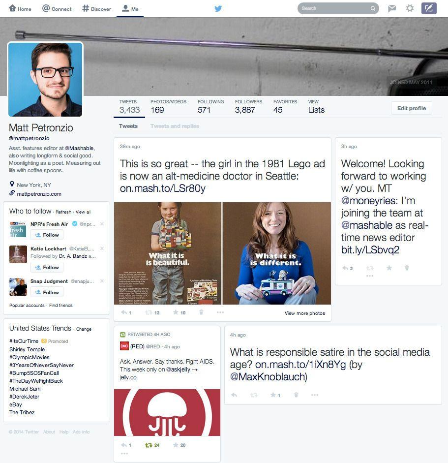 Twitter : un nouveau design envue, très proche de Facebook et Google+