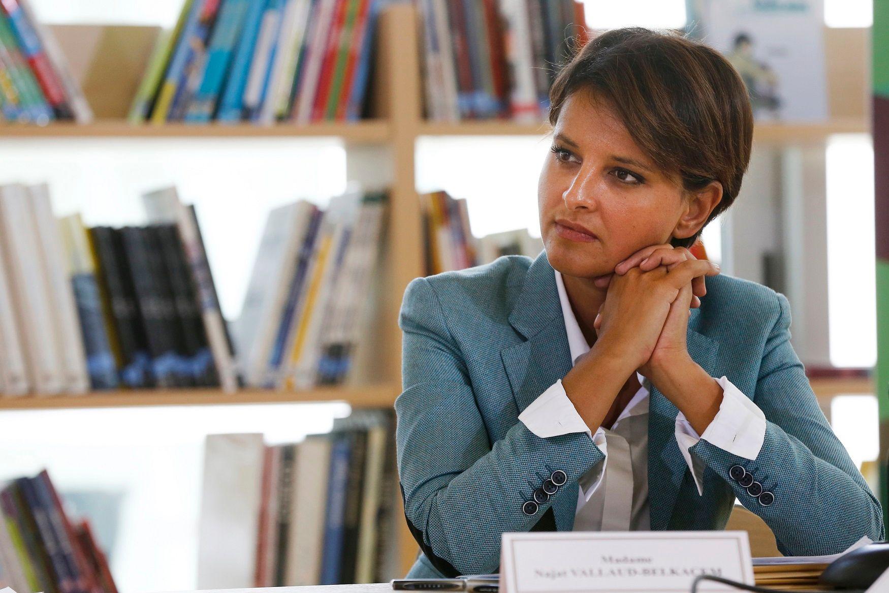 Najat Vallaud-Belkacem, la ministre de l'Education nationale.