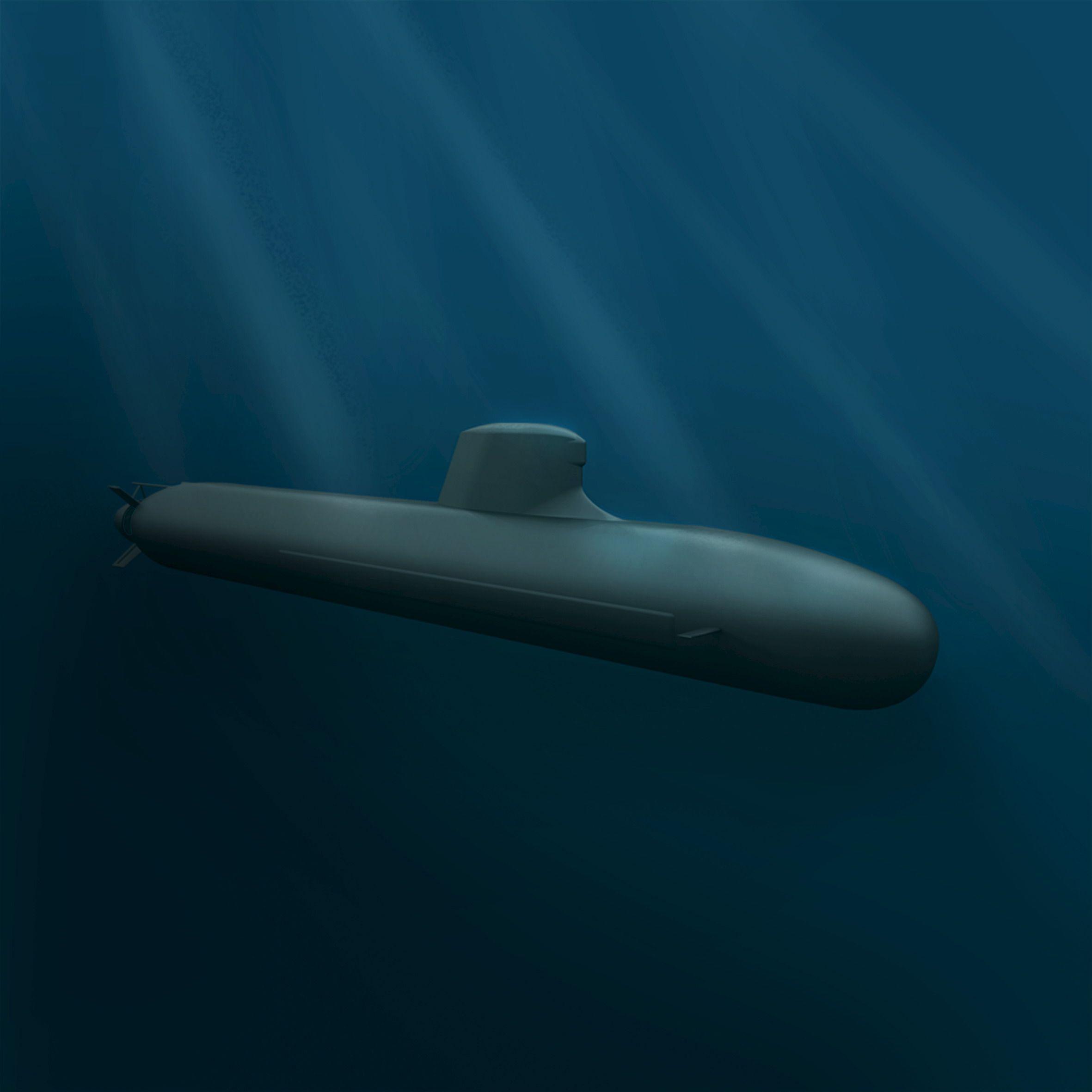 Un sous-marin militaire DCNS Shortfin Barracuda Block 1A, destiné au marché australien, image DCNS du 22 avril 2016