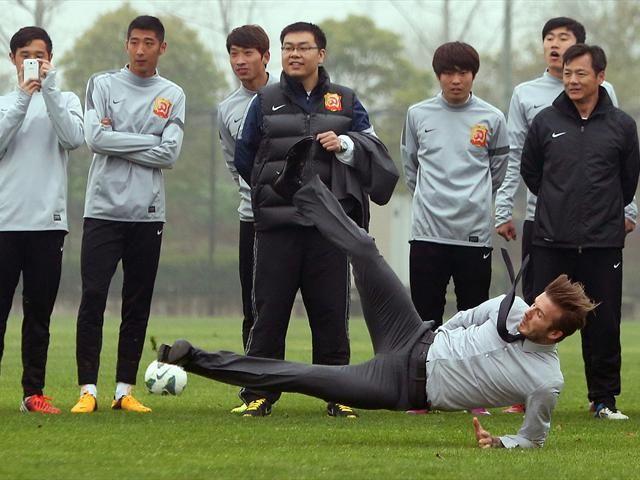 En Chine, David Beckham a chu...