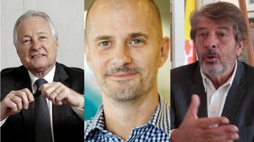 Jean-François Roubaud (CGPME), Daniel Tirat (Les 2 Vaches) et Jean-Pierre Petit (Mc Donald's France)