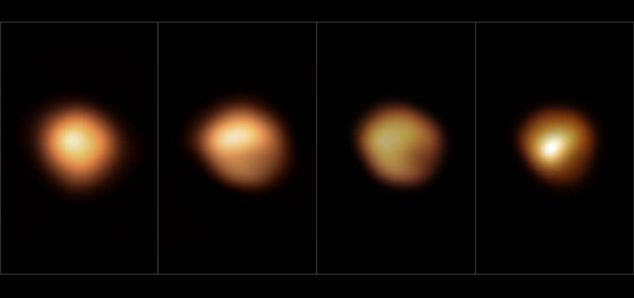 La surface de Bételgeuse avant et durant sa grande diminution d'intensité lumineuse de 2019-2020.