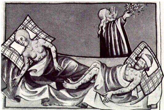 La peste a connu deux pics, entre 1348 à 1351 puis 1361-1362.