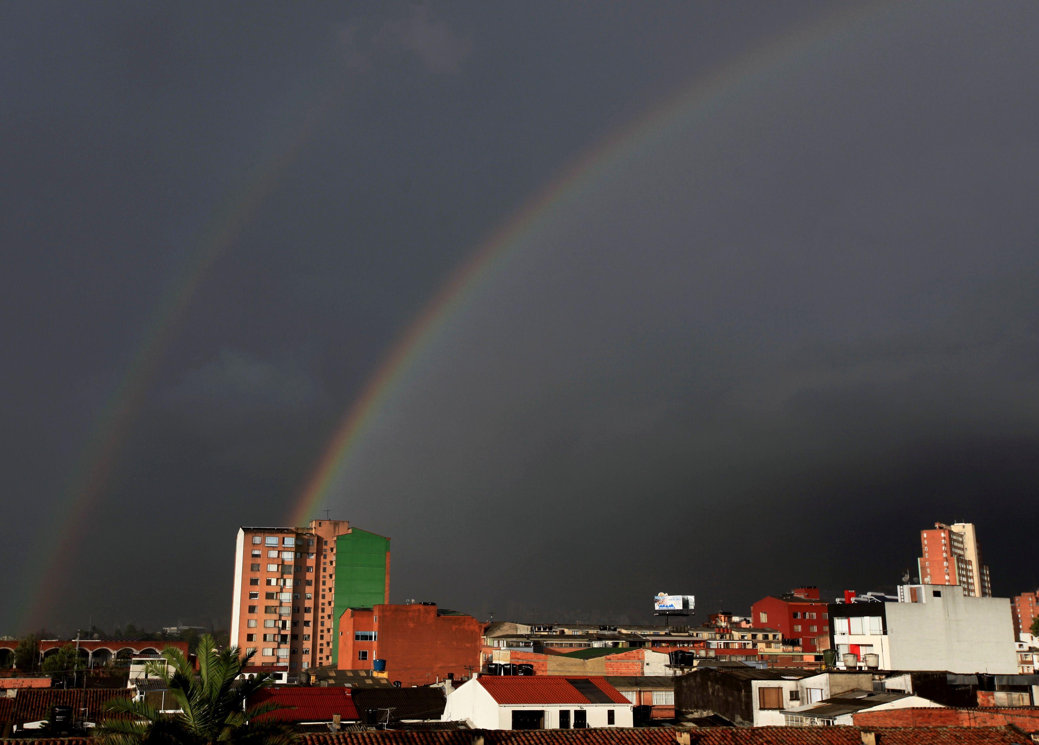 Vue de la ville de Bogotá.