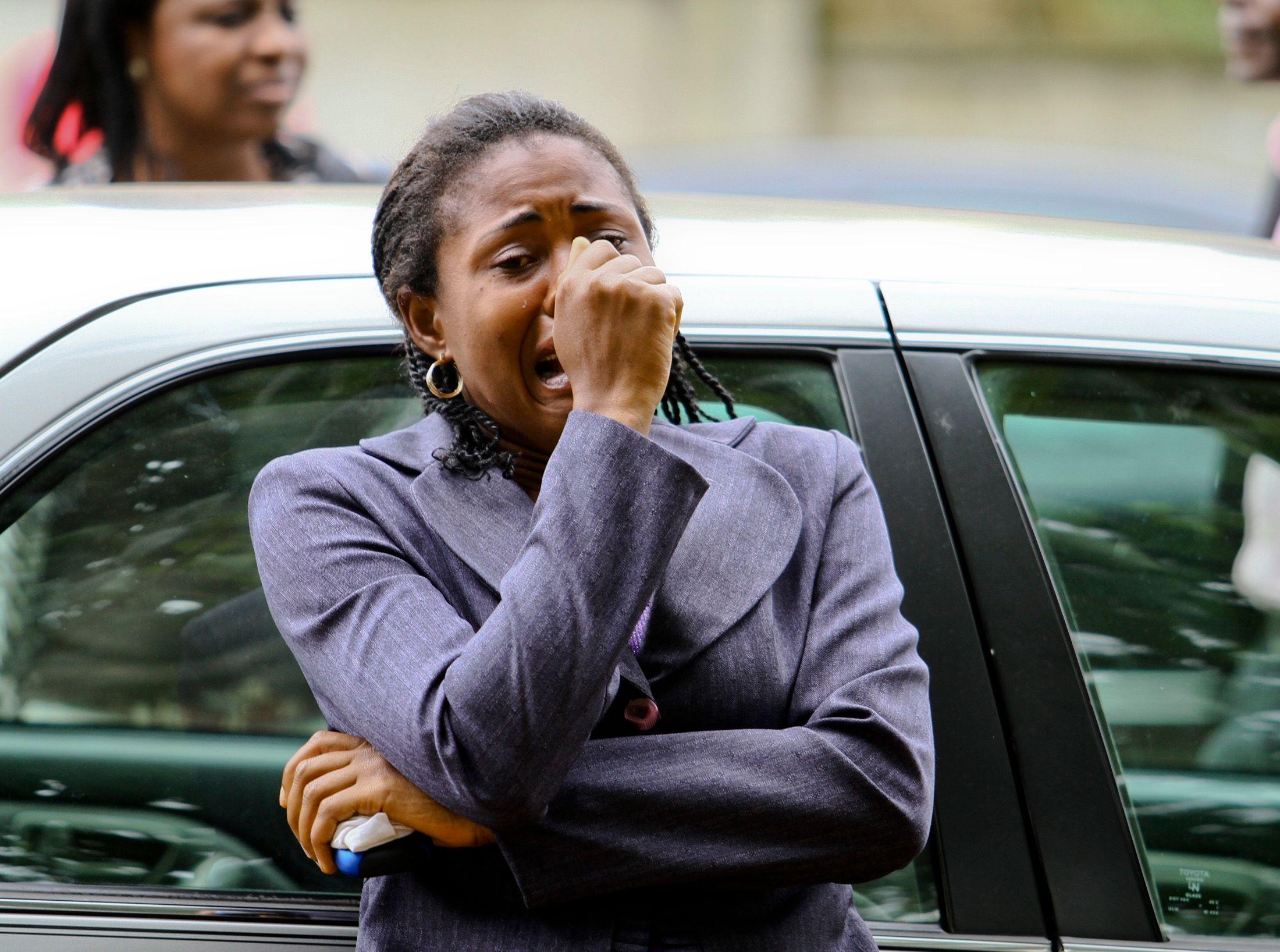 Une femme pleurant suite à des attentats perpétrés par Boko Haram le 1 septembre 2011.