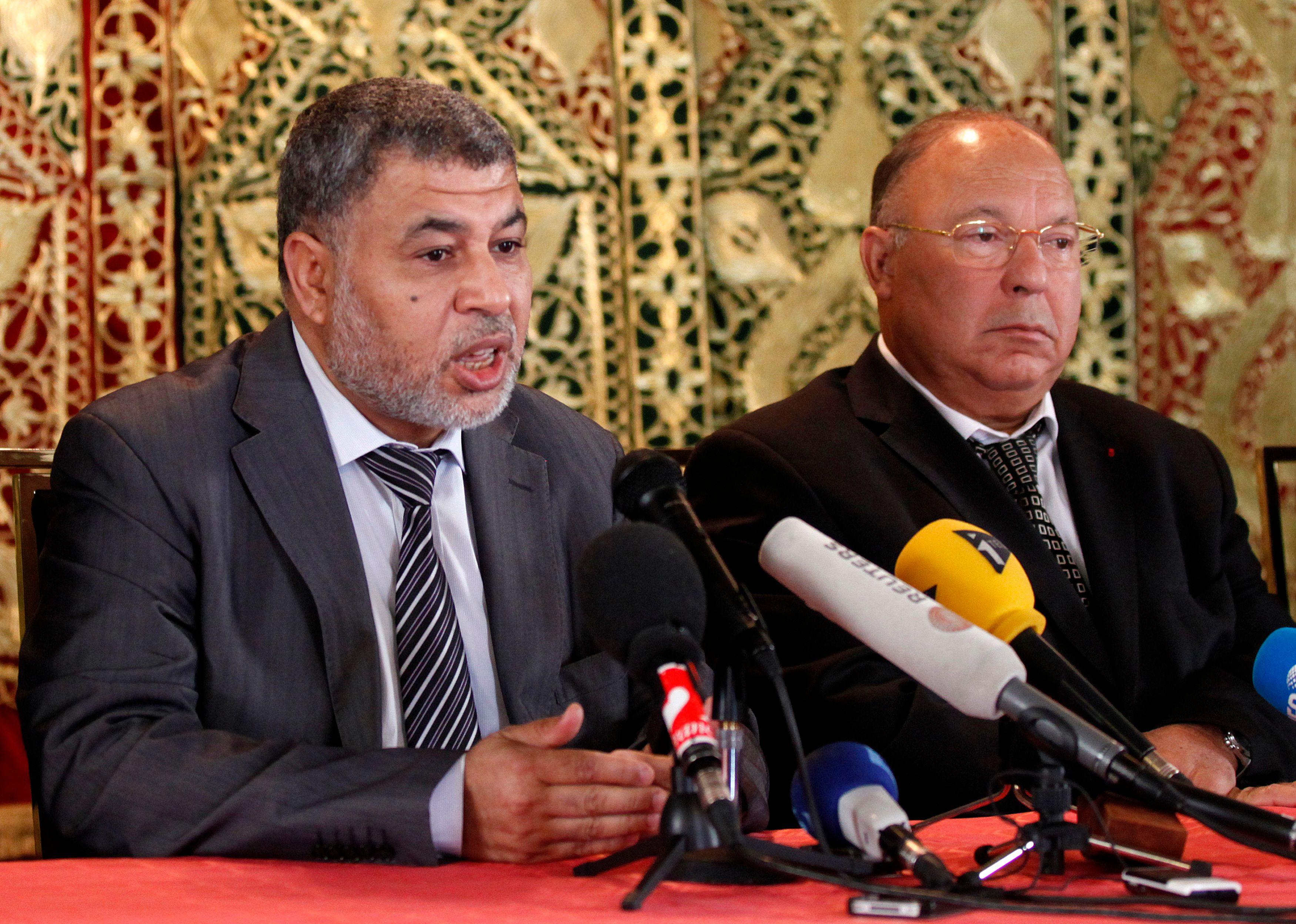 Dalil Boubakeur, recteur de la Grande Mosquée de Paris et Ahmed Jaballah, président de l'Union des organisations islamiques de France