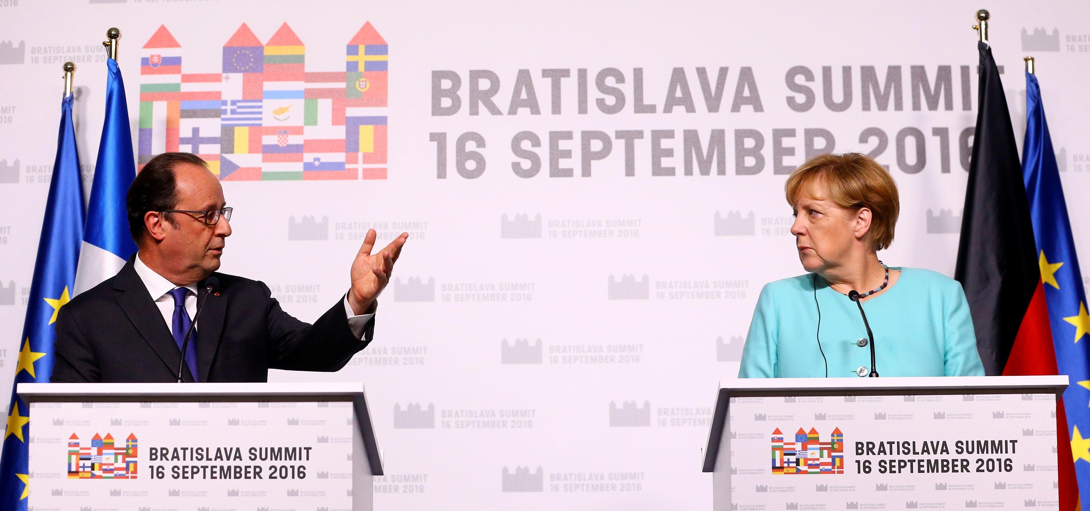 """La France et l'Allemagne vont travailler ensemble pour faire le """"succès"""" de l'Europe."""