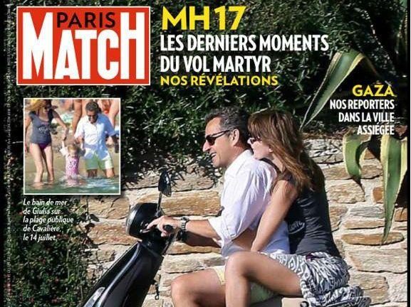 Nicolas Sarkozy et Carla Bruni en une de Paris Match