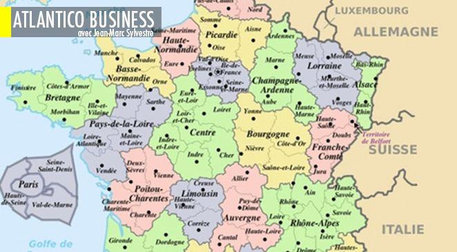 La France fracturée : l'Ile-de-France, les Midi-Pyrénées, et la Corse sont sortis de la crise. La Normandie, le Nord et la Franche-Comté sont encore sinistrés