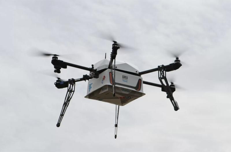 Domino's effectue la première livraison de pizza par drone