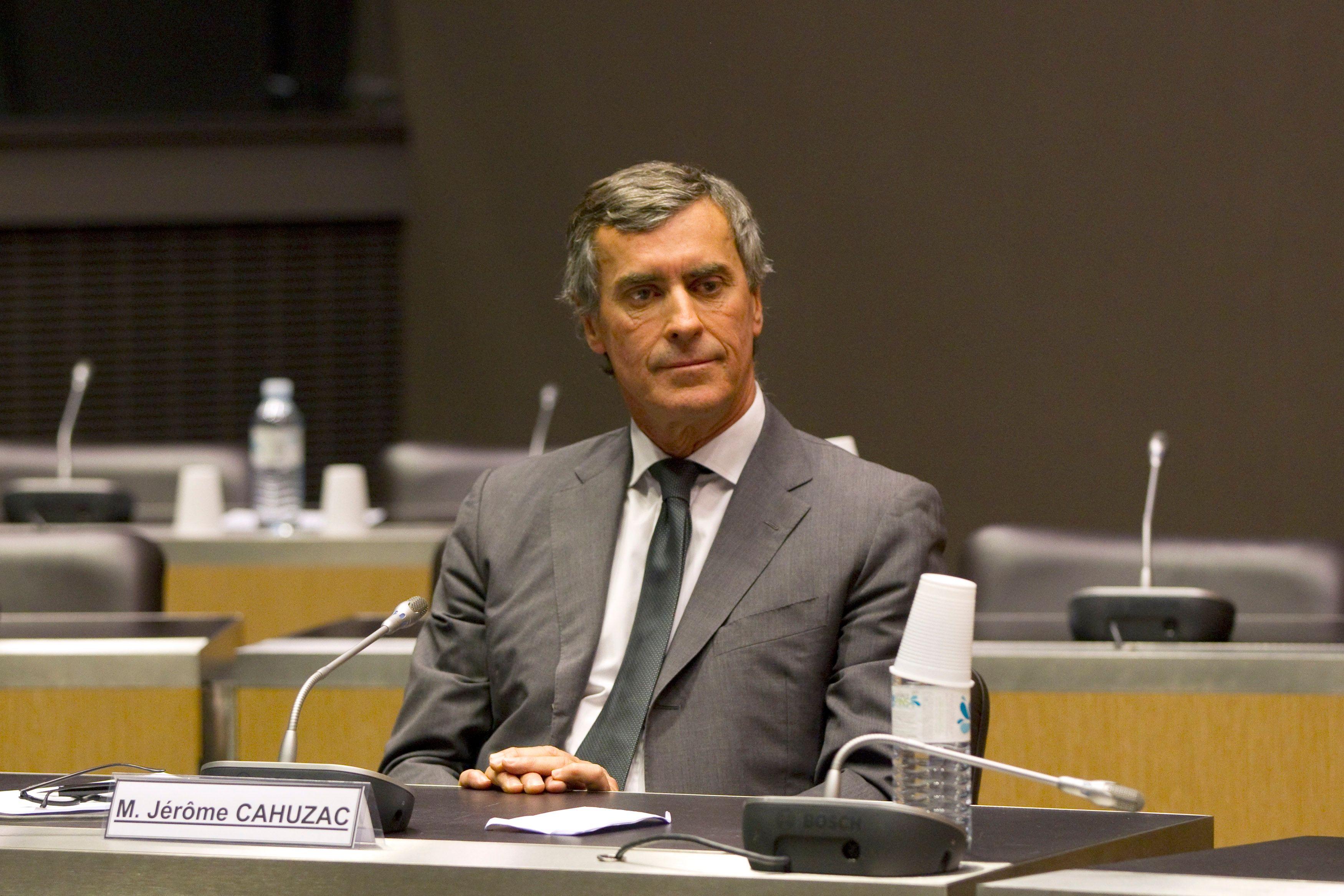 L'ancien ministre du Budget français Jérôme Cahuzac attend le début de son audience à l'Assemblée nationale à Paris 26 Juin 2013.