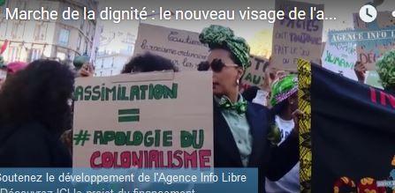 Capture d'écran de la manisfestation anti-racisme.