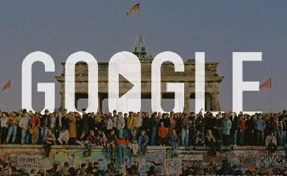 Le logo de Google est aujourd'hui consacré à la chute du mur.