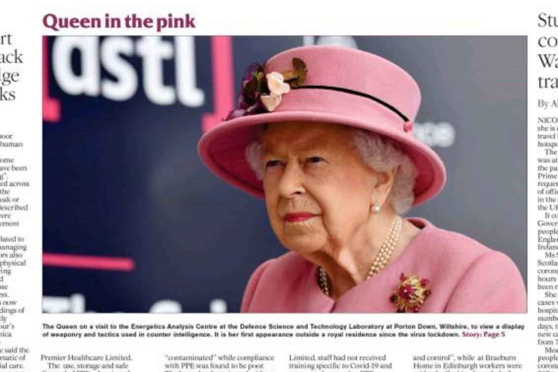 La reine Elisabeth sans masque