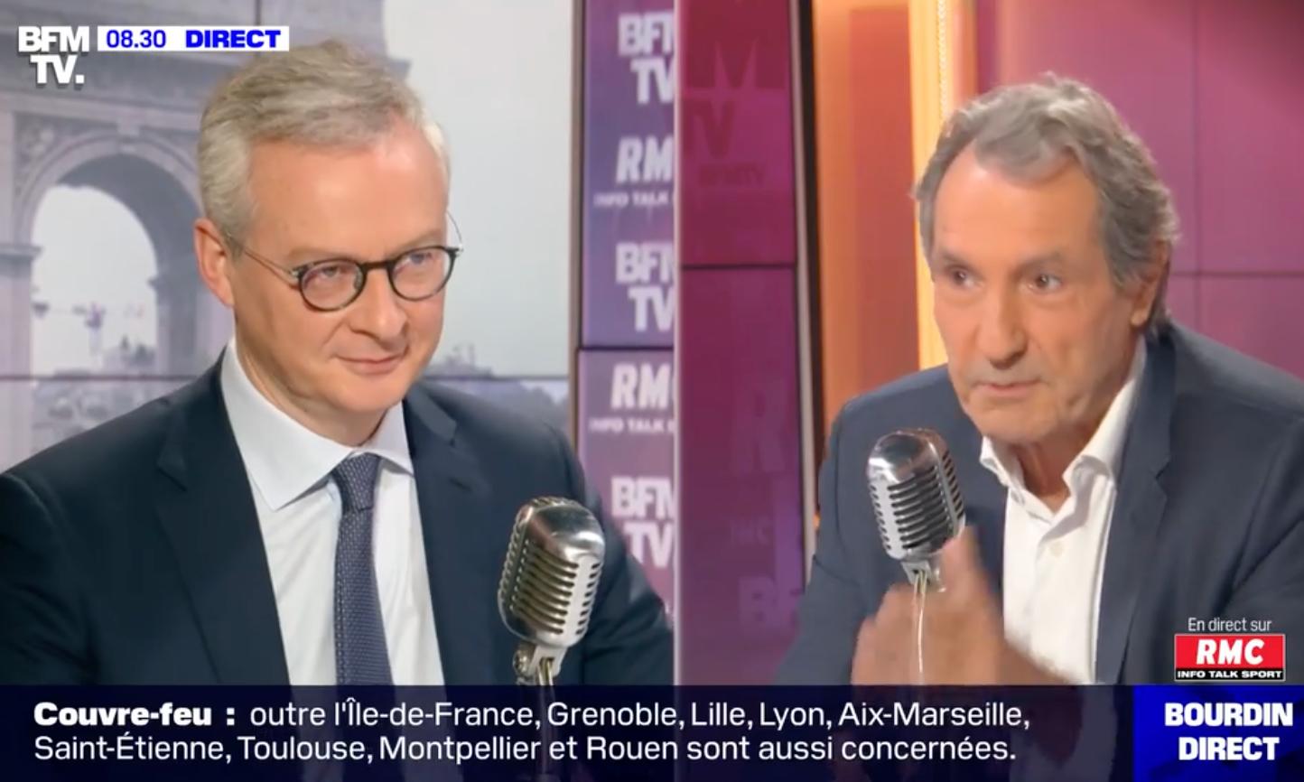 Bruno Le Maire sur RMC/BFM TV