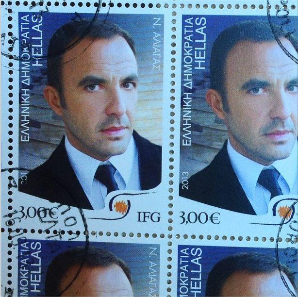 Nikos fait partie des stars choisies pour la série de timbres dédiée aux personnalités grecques de l'étranger