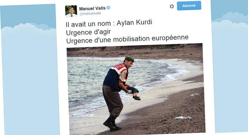 Capture d'écran du compte Twitter du Premier ministre Manuel Valls.