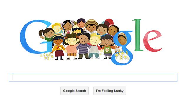 Google célèbre ce mercredi la journée internationale des droits de l'enfant.