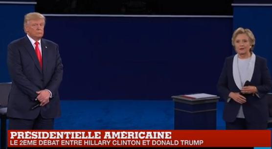 États-Unis : débat Clinton-Trump âpre sur fond de scandales