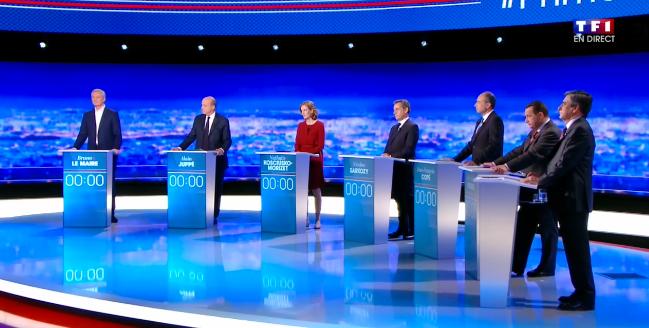 Les sept candidats à la primaire de la droite et du centre s'exprimeront derrière des pupitres choisis par un tirage au sort.