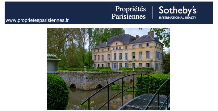 Capture d'écran Sotheby's propriétés parisiennes