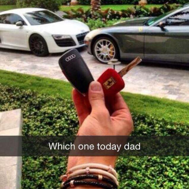 """Laquelle on prend aujourd'hui papa ?"""