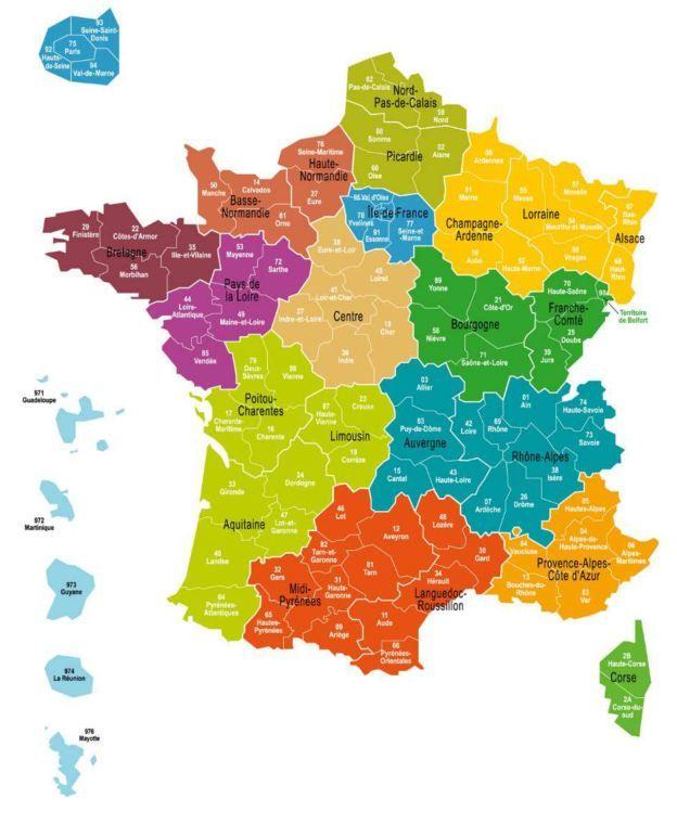 Les 13 régions