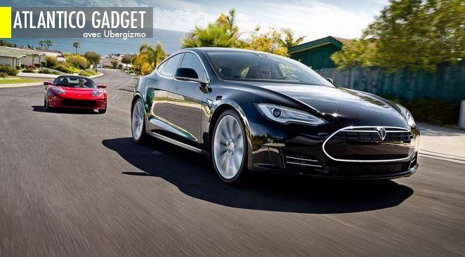 À l'usine de Tesla à Fremont, en Californie, la société Tesla a lancé aujourd'hui la première berline électrique : le modèle S.