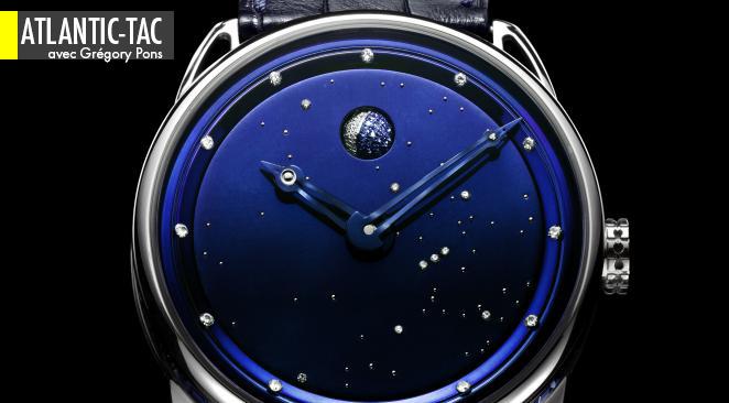 Proposition étonnante de la marque suisse De Bethune pour sa nouvelle « montre de dame » DB 25 : le cadran en titane bleui au four et à la main peut se personnaliser.