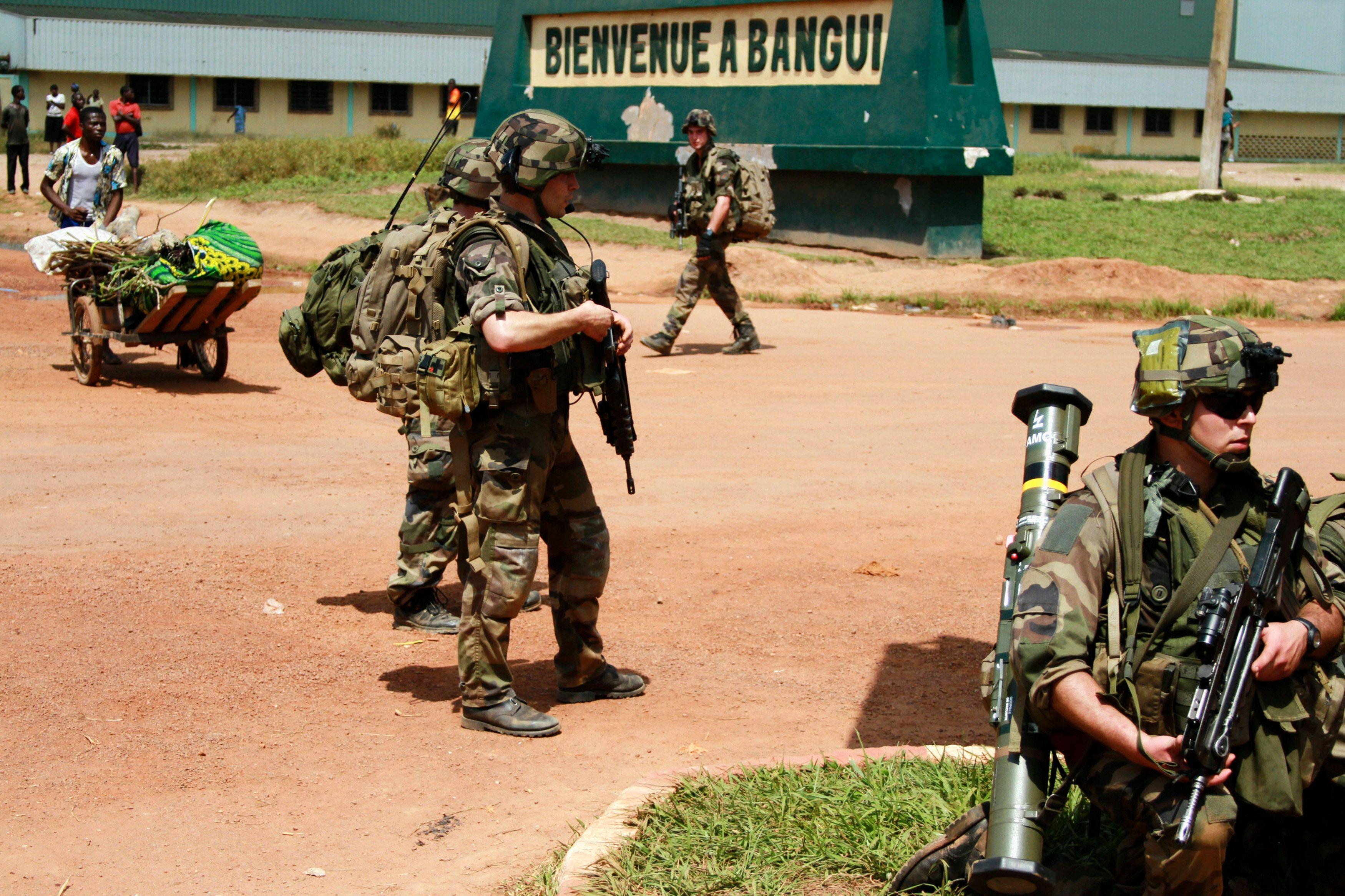 Soldats français en Centrafrique.
