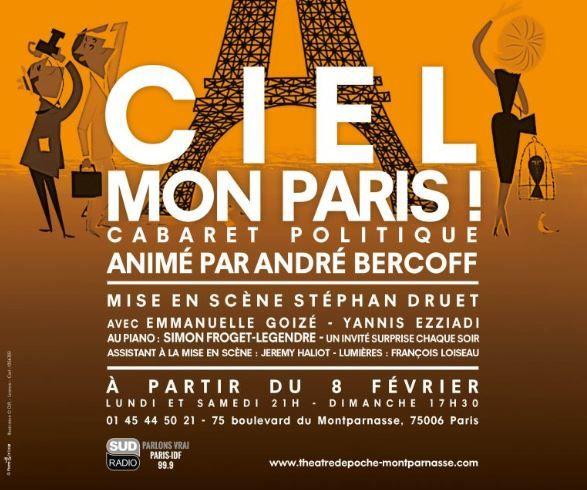 """""""Ciel mon Paris"""" : chantez, Parisiens ! Un cabaret politique animé par André Bercoff"""