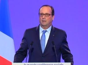 François Hollande lors de son discours à la conférence sociale ce lundi