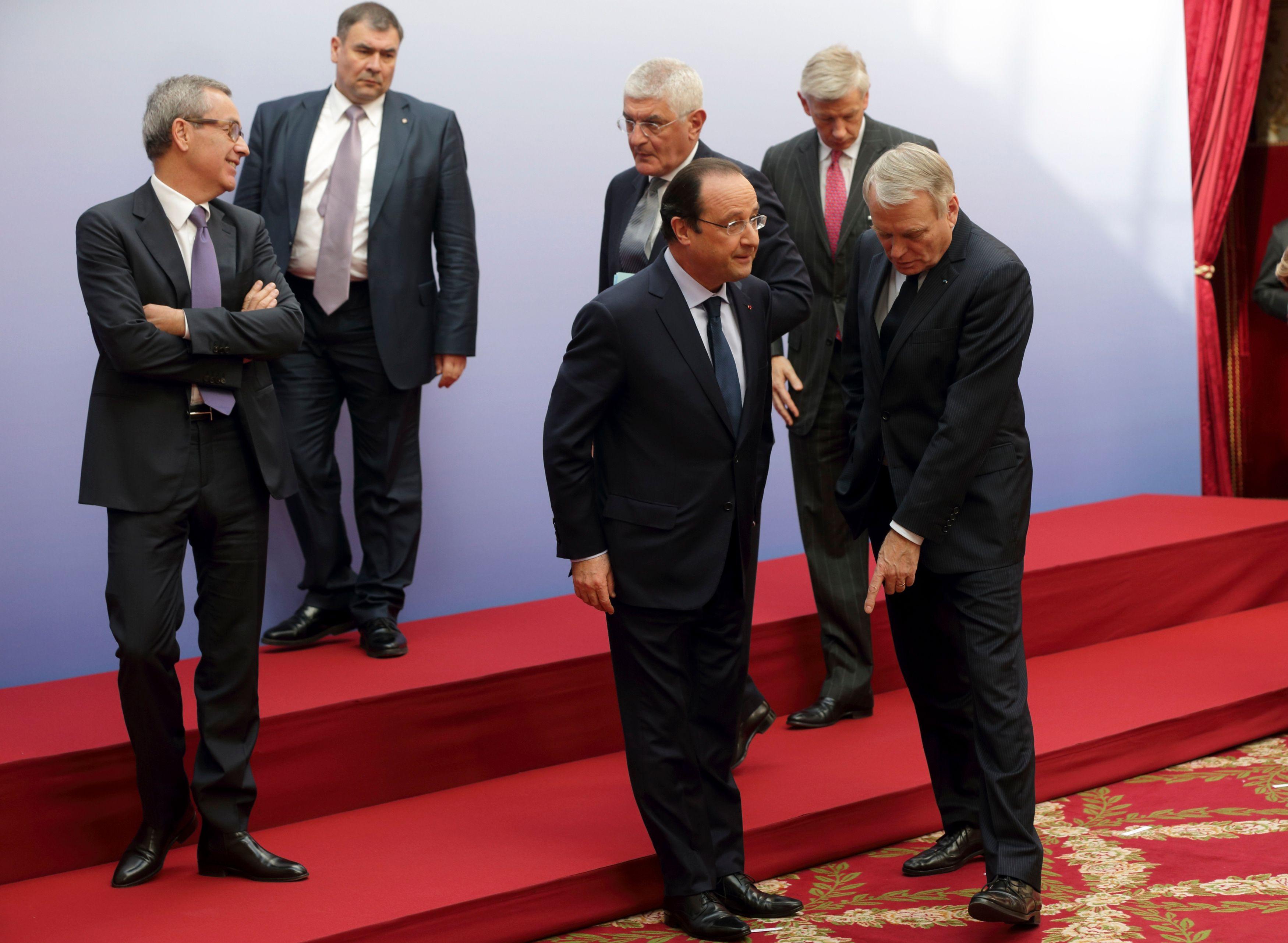 François Hollande a reçu ce lundi le patronat étranger dans le cadre du conseil de l'attractivité