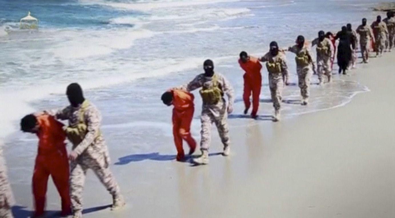 Coptes condamnés à la décapitation par l'Etat islamique en Libye.