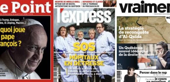Faure soupçonne Hollande de vouloir revenir en 2022 ; Frederic Mion le mousquetaire hors les murs de Macron ; Le Point  a  vu la lumière ... et le pape en leader du monde libre ; le gouvernement s'attaque à l'échec de l'éolien maritime