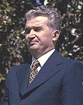 Nicolae Ceaușescu, dictateur roumain de 1965 à 1989.