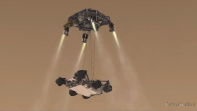 Représentation schématique de la sonde Curiosity de 900 kg.