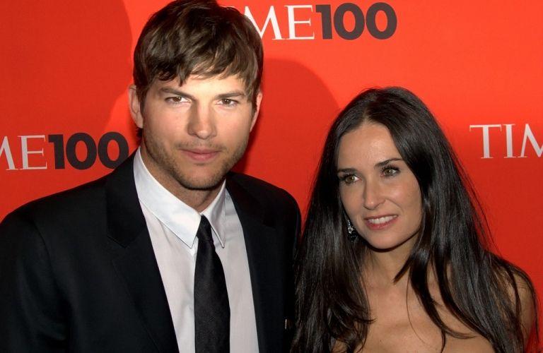 Demi Moore (48 ans) et son mari Ashton Kutcher (33 ans).