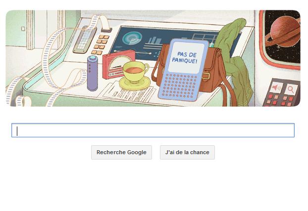 VIDEO Google Doodle : Douglas Adams, écrivain de science fiction à l'honneur