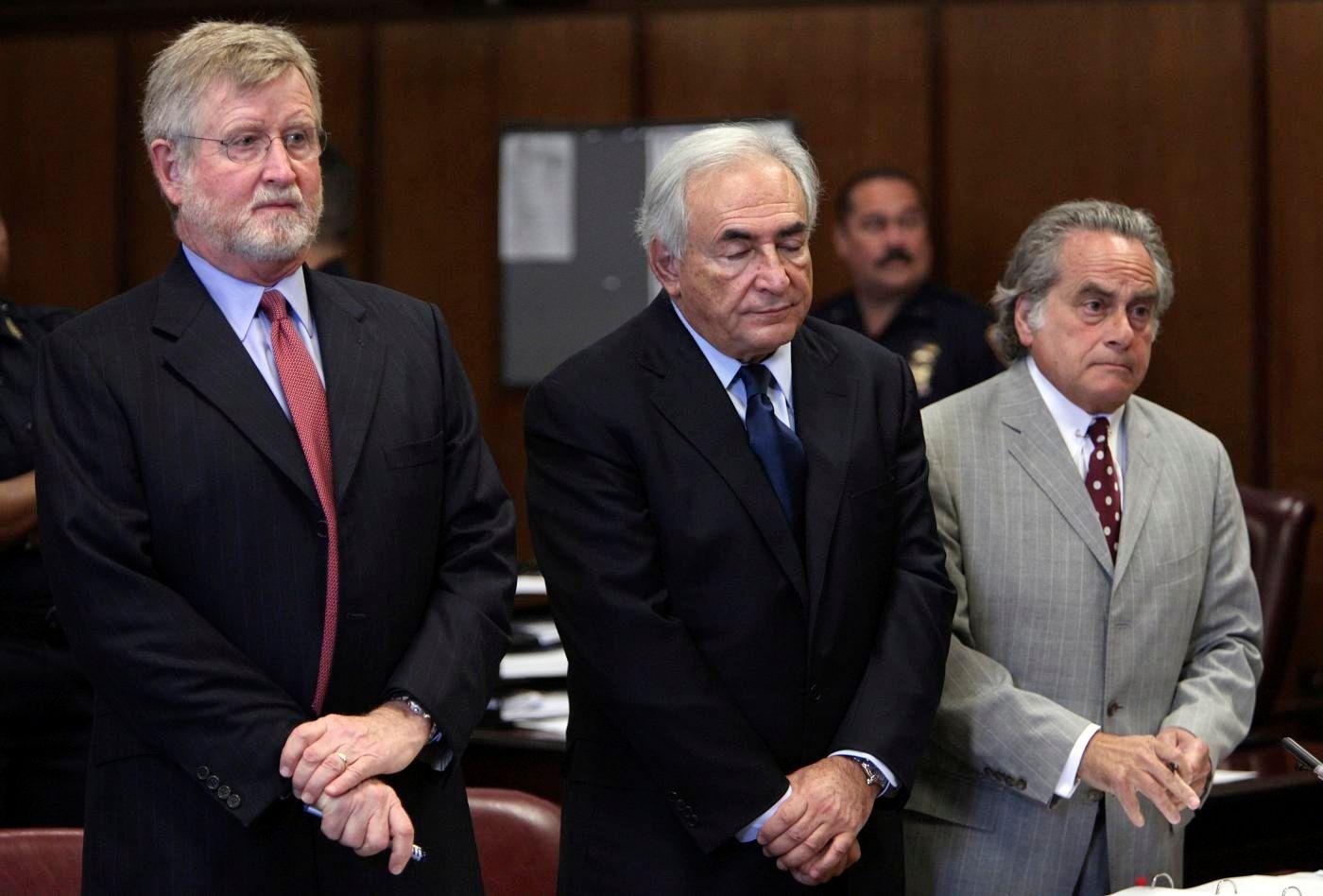"""Dominique Strauss-Kahn a chuchoté """"not guilty"""" devant le tribunal pénal de New York ce lundi."""