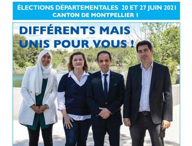 Sara Zemmahi est candidate (remplaçante) pour La République en Marche sur une liste d'un canton de Montpellier dans le cadre des élections départementales.