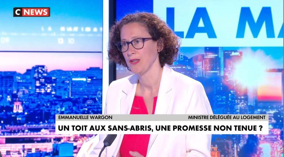 Emmanuelle Wargon, la ministre déléguée au Logement, était l'invitée de la matinale de CNews, en cette journée du mercredi 28 juillet.